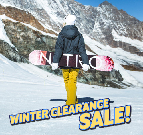The WINTER CLEARANCE SALE is going on now!