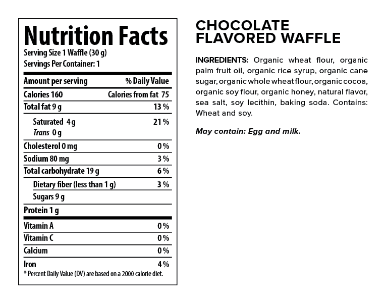 Honey Stinger Chocolate Waffle Nutrition Facts