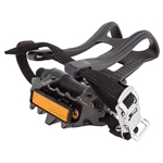 "SUNLITE LoPro 9/16"" Pedals With Toe Clips and Straps"