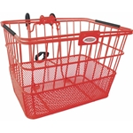 Quik-Release Bicycle Basket - Red | CLEAN MOTION