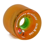 REMEMBER | California Cruiser Clear Orange / Lime Longboard Wheels - 70mm 78a