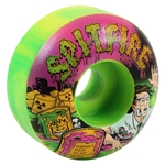 Spitfire Wheels Formula Four Classic Toxic Apocalypse Skateboard Wheels - 52mm 99a