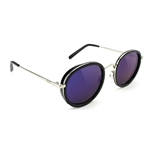 GLASSY Lincoln Sunglasses - Black/Blue Mirror