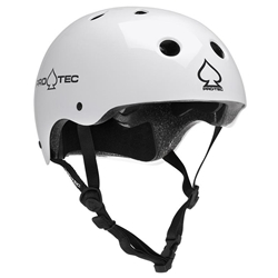 PROTEC | Classic Certified - Gloss White Helmet (M)