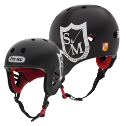 "PROTEC | Full Cut Certified ""S&M Bikes"" - Black Helmet (XS)"