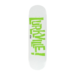 LURKVILLE SKATEBOARDS | Stearn Colorway White/Green Deck, 8.25