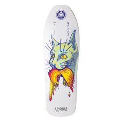 WELCOME Skateboards | Chris Miller Cat Gets Bird on Sugarcane (10.0 x 31.6, White)