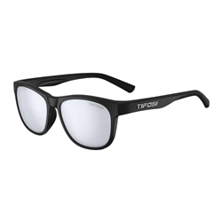 TIFOSI | Swank | Satin Black Smoke Bright Blue Sunglasses