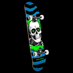 "7.75"" X 31.75"" Powell Peralta Ripper One Off '15' Complete Skateboard Blue/Green"