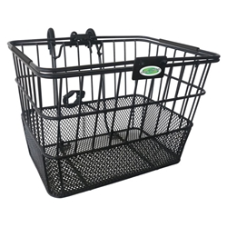Quik-Release Bicycle Basket - Black | CLEAN MOTION