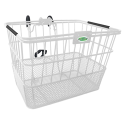 Quik-Release Bicycle Basket - White | CLEAN MOTION