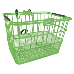 Quik-Release Bicycle Basket - Green | CLEAN MOTION