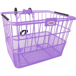 Quik-Release Bicycle Basket - Purple | CLEAN MOTION